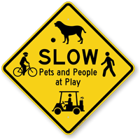 slow at play sign