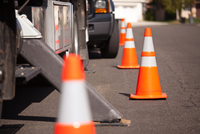 Safety Cones Distributor for Road Construction Projects