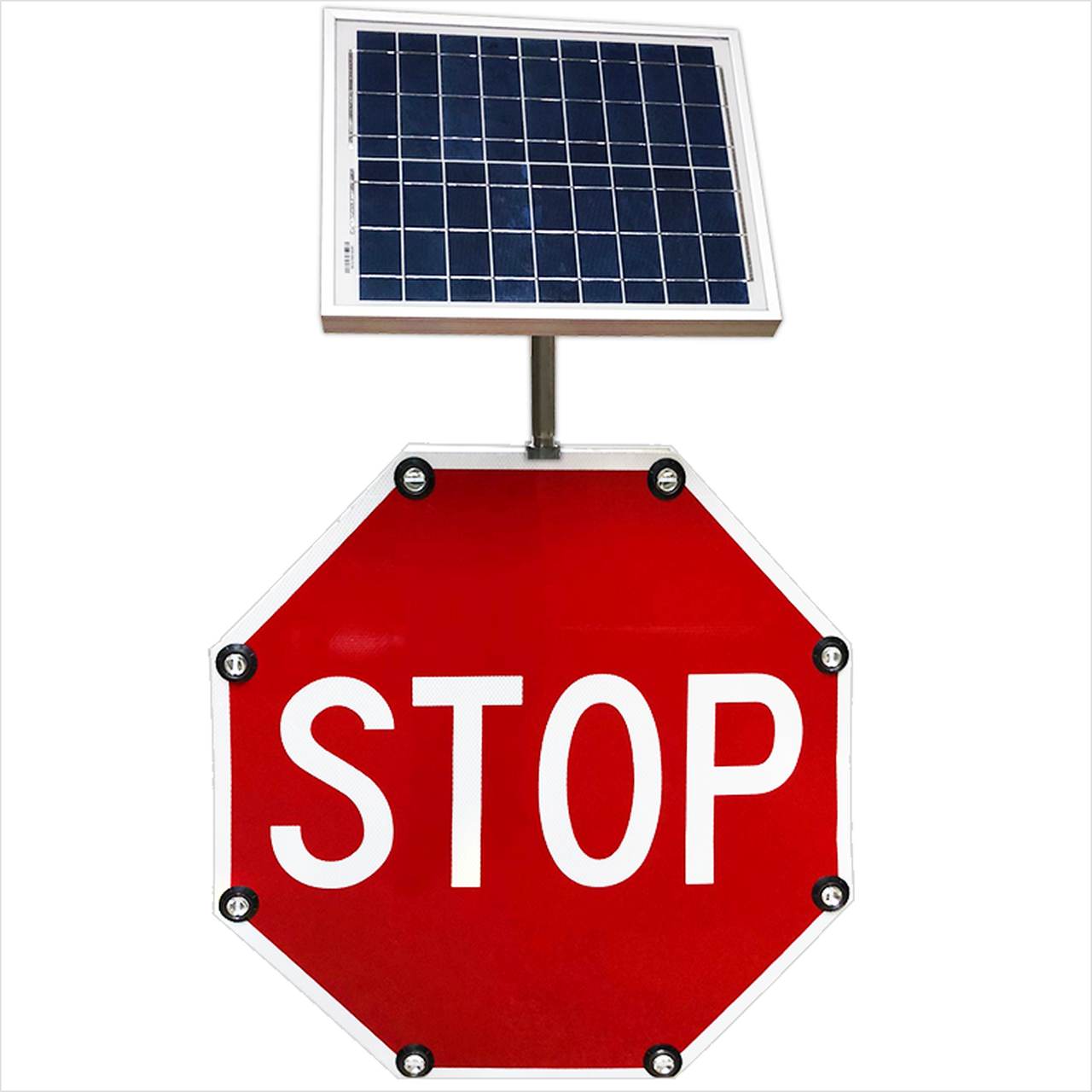 Benefits Of Solar Powered Led Crosswalk And Stop Signs Dornbos Sign Safety Inc